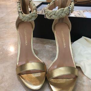 Badgley mischka gold heels side 6.5
